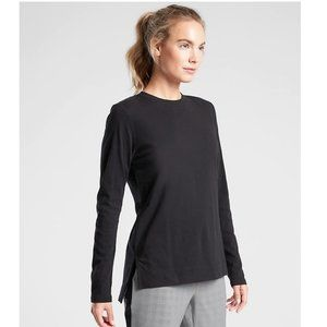 Athleta Organic Daily Long Sleeve Top in Black